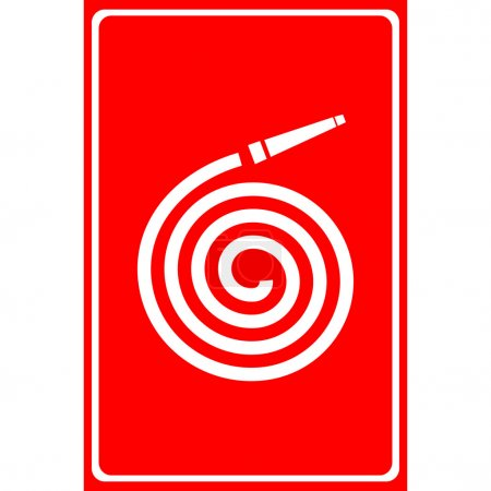 Vector fire station, Fire hose reel icon. Illustration EPS10