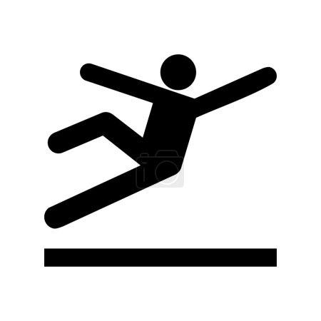 Vector Wet Floor Warning Sign, Illustration EPS10