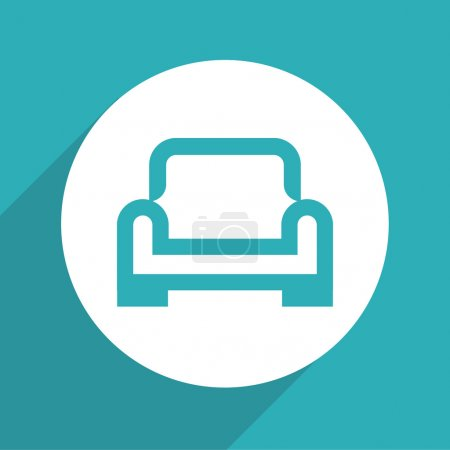 Vector armchair vector icon, Illustration EPS10