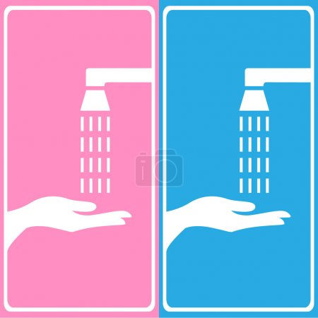 Vector wash your hands sign, Illustration EPS10