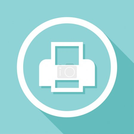 Vector flat printer icon, Illustration EPS10