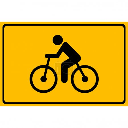 Vector cycling road. Flat bicycle icon or sign, Illustration EPS10
