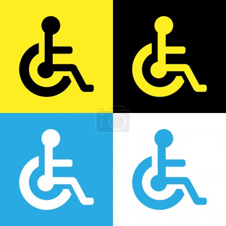 Vector disabled icon sign, Illustration EPS10