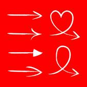 Vector set of hand drawn arrows Illustration EPS10 great for any use