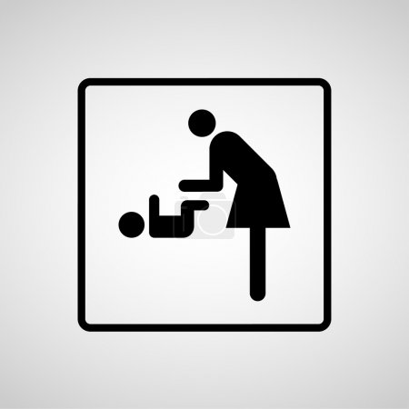 Vector symbol for women and baby , baby changing
