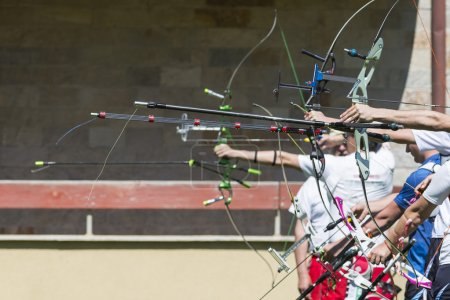 recurve bow archery competition hand only