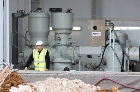 Waste plant high voltage back up diesel power generator