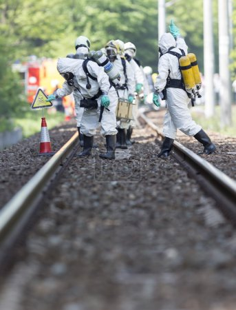 Toxic chemicals and acids emergency team