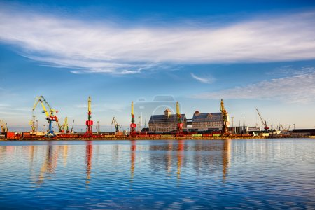 Commercial port in Kaliningrad