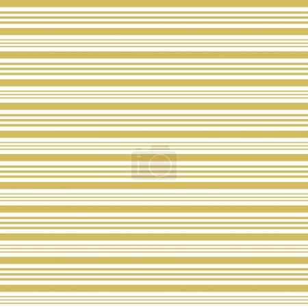 Illustration for Golden and white stripes in different widths horizontally in square format - Royalty Free Image