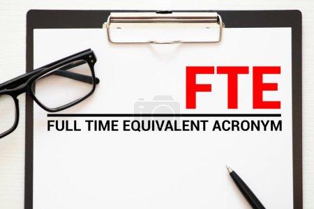 Photo pour ETP - Équivalent temps plein, contexte du concept d'entreprise. - image libre de droit