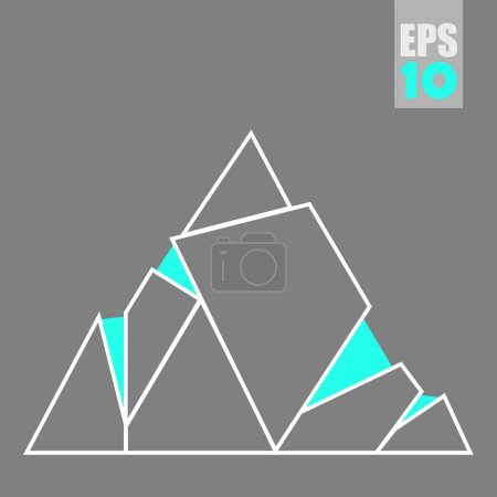 vector abstract triangles mountains