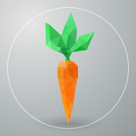 Illustration pour Triangles de carottes géométriques isolées vectorielles - image libre de droit