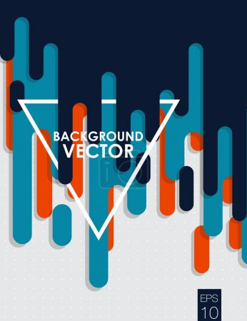Illustration for Vector abstract background with paint pouring around triangle - Royalty Free Image