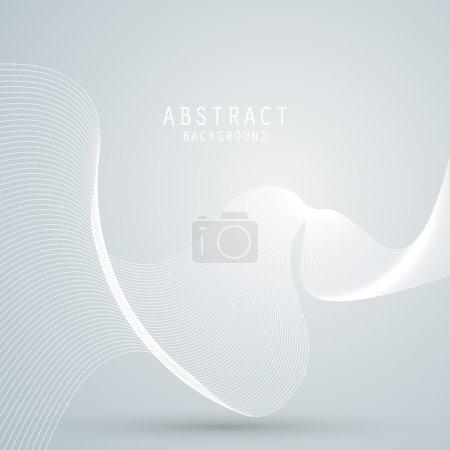 Illustration pour Fond abstrait vectoriel avec maille blanche, lignes ondulées. PSE10 - image libre de droit