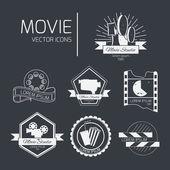 Vector cinema logos and signs