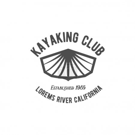vintage rafting label badge or logotype