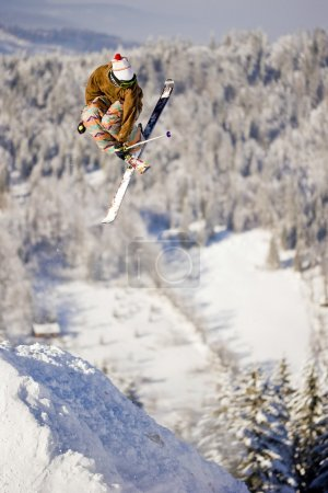 Skier Freeride Extreme