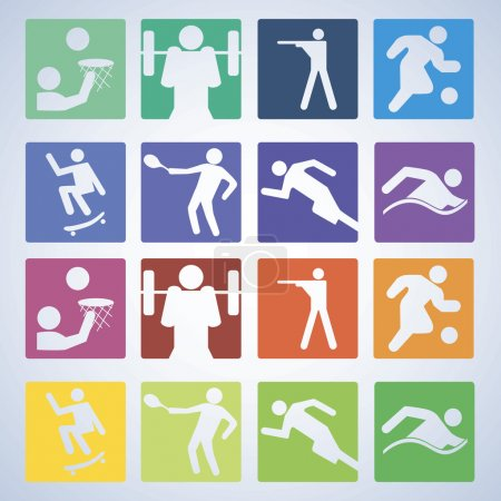 Sport set. Players of different sports. Vector...