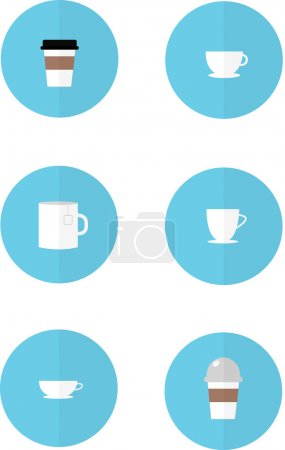 Tea and coffee cups as icons
