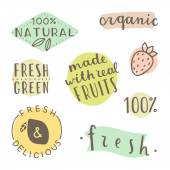 Set of hand drawn cute labels