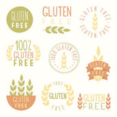 Gluten free labels Vector EPS 10 hand drawn signs