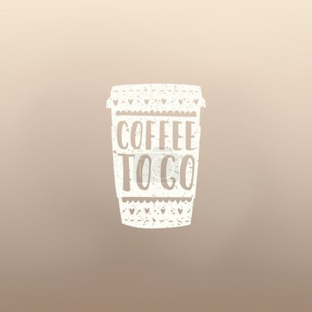 Illustration for Banner with a cup of coffee. Vector hand drawn illustration - Royalty Free Image