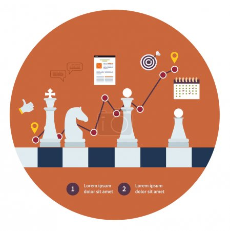 Strategy planning icons