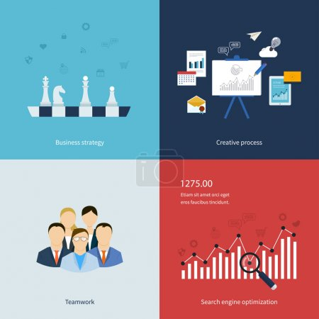 Icons for business strategy