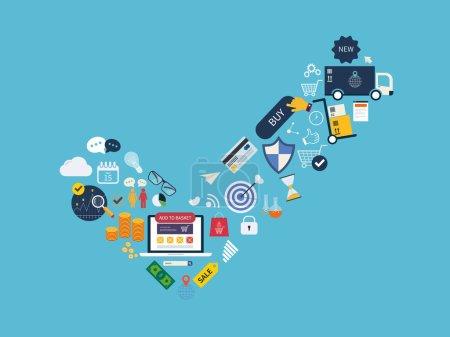 Online shopping, e-commerce service