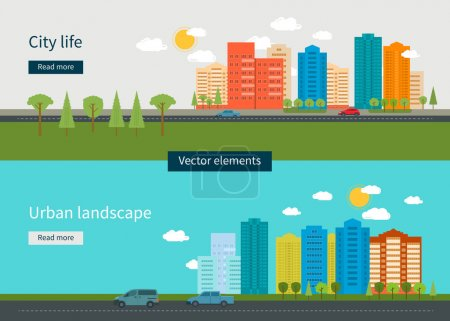 Photo for Flat design modern vector illustration icons set of urban landscape and city life. Building icon - Royalty Free Image