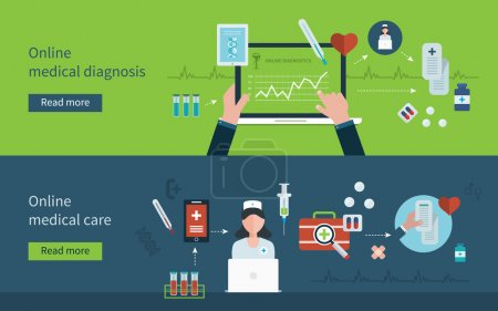 Online health diagnostic icons
