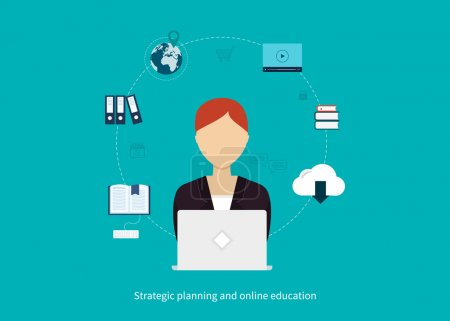 Online education, management concept
