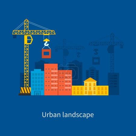 building construction and urban landscape concept