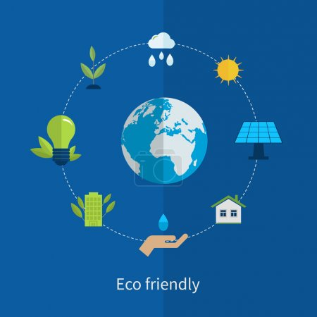 Environment and eco friendly energy icons