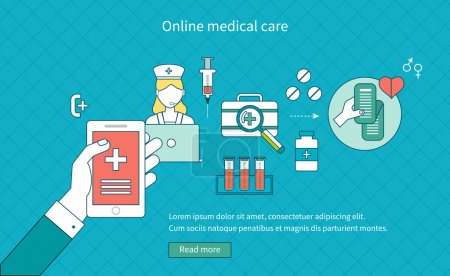 Online medical diagnosis and first aid