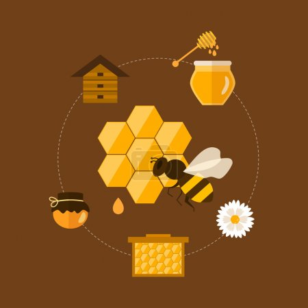 Icons of organic honey