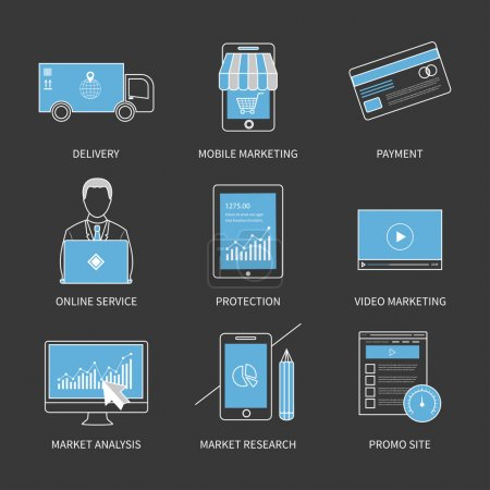 Mobile marketing icons