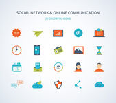 social network and online communication icons