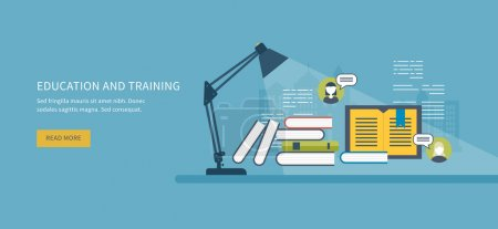 education and training Flat design