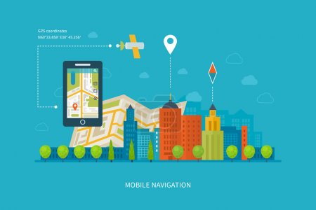 smart-phone with mobile navigation