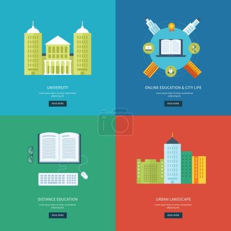 School and university building icon