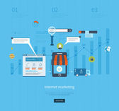 Icons for internet marketing and online shopping