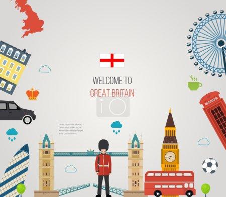London, United Kingdom flat icons
