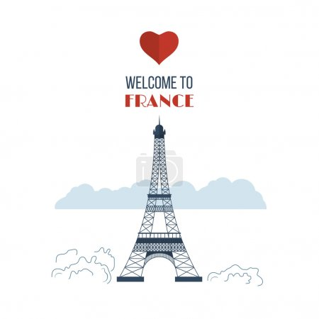 France with Eiffel tower