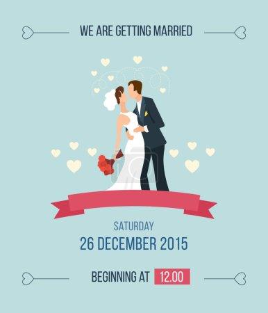 Caricature d'invitation de mariage