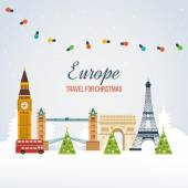 United Kingdom and France travel concept