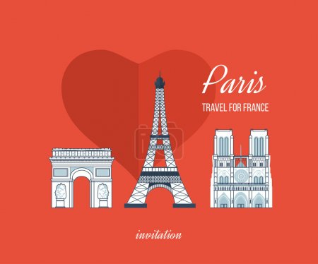 French Landmarks. Travel to Europe