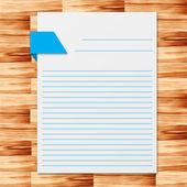 Zápisník, dřevěnou podlahu vektorové ilustrace