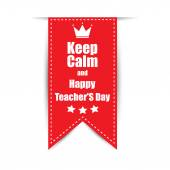 Leiba on Teachers' Day celebration vector illustration